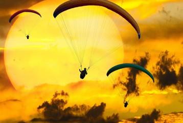 Полёт на параплане в Каче