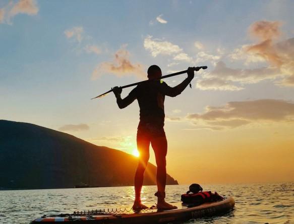 SUP- сёрфинг в Гурзуфе