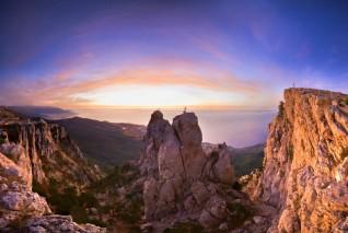 Экстремальный спуск с вершины Ай-Петри