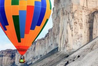 Покорение Белой скалы на воздушном шаре