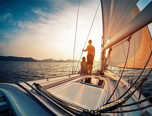 Романтическое путешествие на яхте